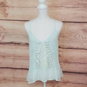 NWT Hollister sheer mint green camisole